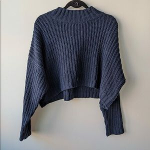 Cotton On Cropped Mock Neck Knit Sweater